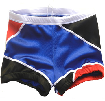 Blue black wrestling biker shorts