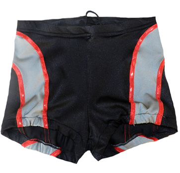 Black gray wrestling biker shorts