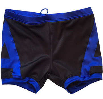 Black blue wrestling biker shorts