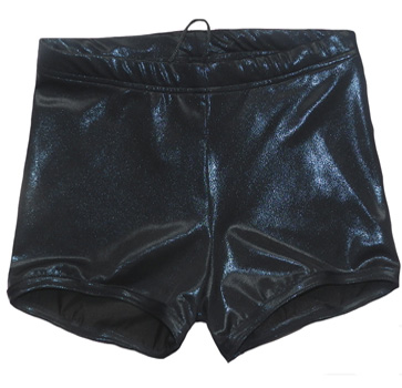 Solid shinny black wrestling biker shorts
