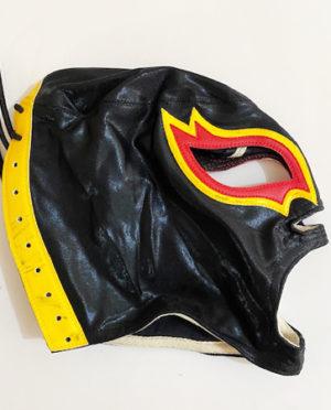 Black red/yellow wrestling mask