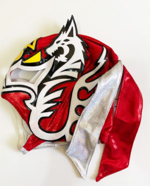 Dragon red/silver wrestling mask