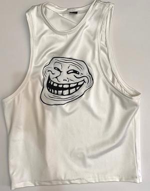 Meme White tank top shirt MEDIUM