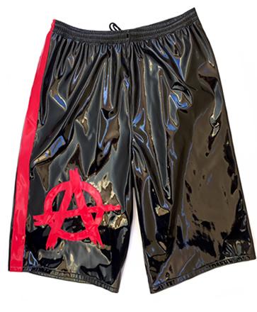 Anarchy black/ red wrestling shorts