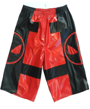 DeadPool red black wrestling shorts