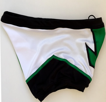 Green white arrow wrestling biker shorts