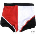 Red black white arrow wrestling biker shorts