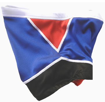Blue black wrestling biker shorts