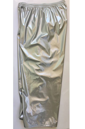 Solid silver wrestling baggy pants