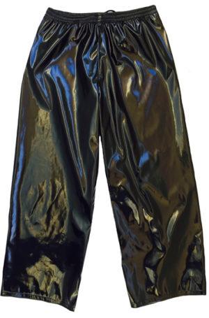 Solid black wrestling baggy pants