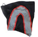Black gray wrestling biker shorts