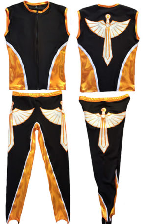 Wrestling set black orange sword set