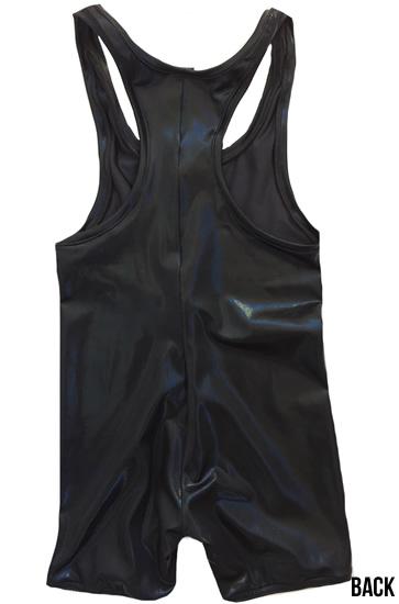 Black wrestling singlet solid color