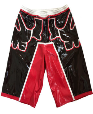 Skull red black white wrestling baggy shorts