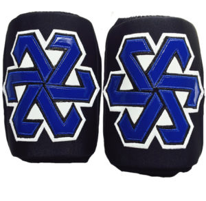 Black blue slip on wrestling kneepads