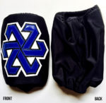 Black blue slip on wrestling kneepads