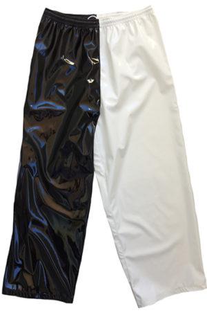 Black white wrestling baggy pants
