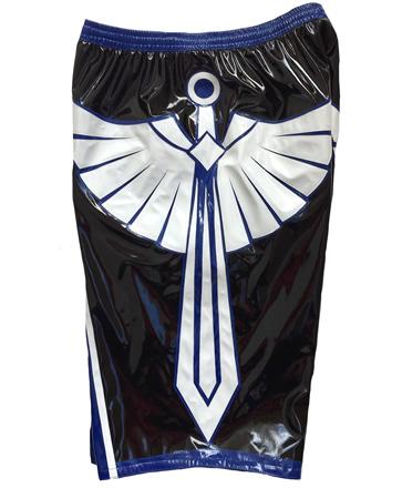 Wrestling shorts blue black white sword