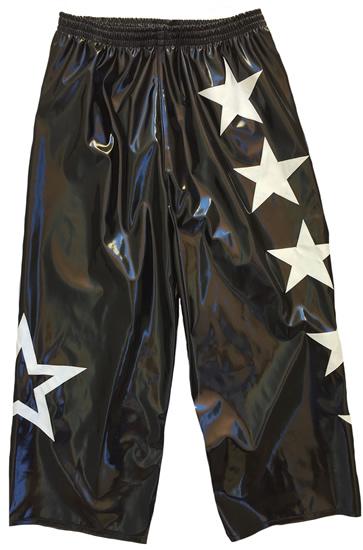 Black white stars wrestling pants