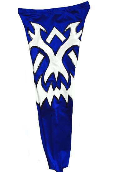 Tribal blue white wrestling tights