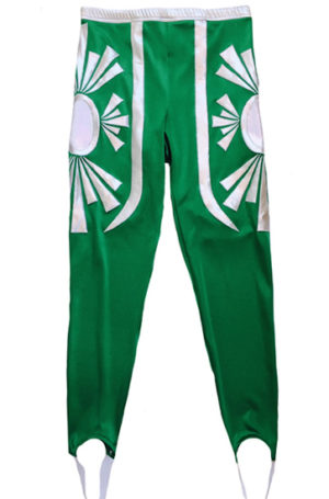 Mystic green silver wrestling tights