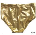 Solid shinny gold wrestling trunks